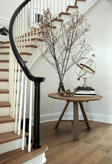 Foyer Stairs Qld : How to style with books when selling your house home